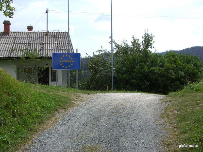 Der kleine Grenzübergang Oberhaag/Kapla