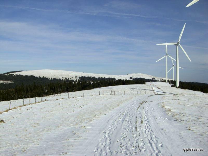 Amundsenhöhe (links) und Pretulgipfel (rechts)