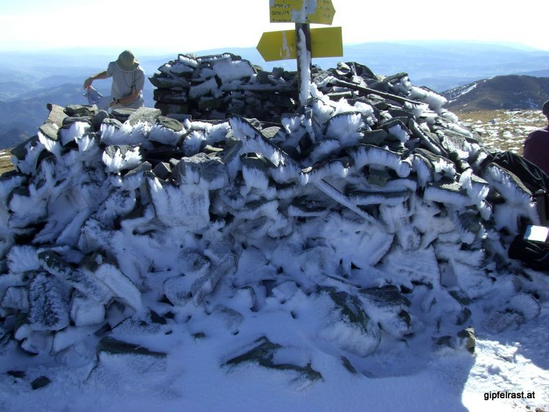 Eisskulptur am Speikkogel