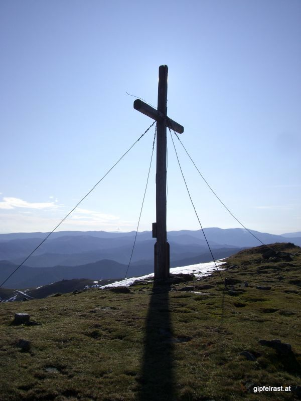 Gipfelkreuz am Rossbachkogel