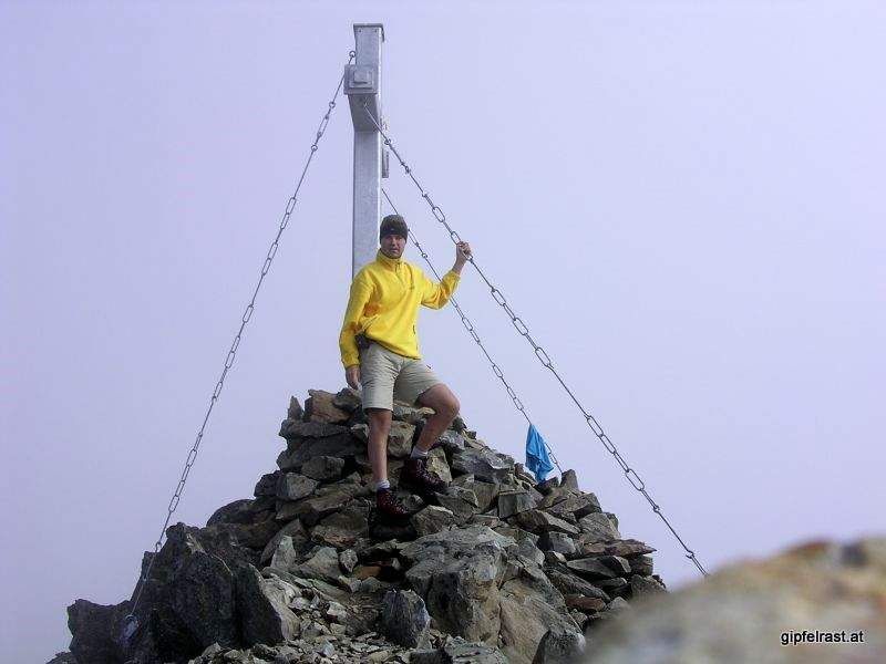 Gipfelfoto Roter Knopf