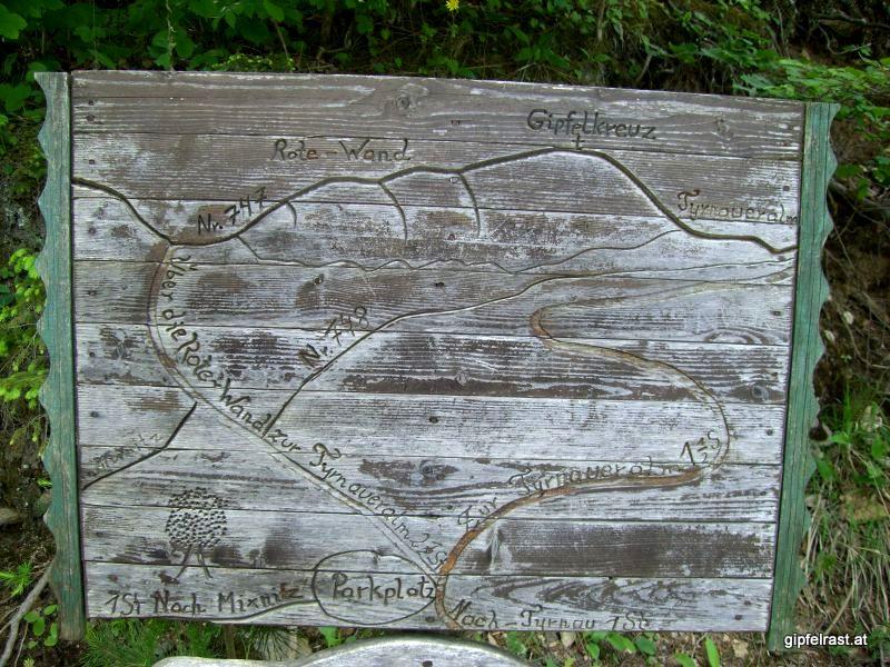 Topographische Karte des Gebiets