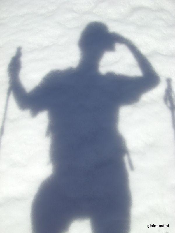 Selbstporträt im Schnee