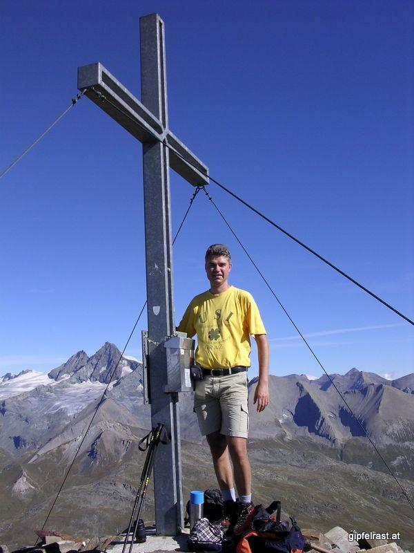 Gipfelfote Böses Weibl - dahinter lacht der Glockner