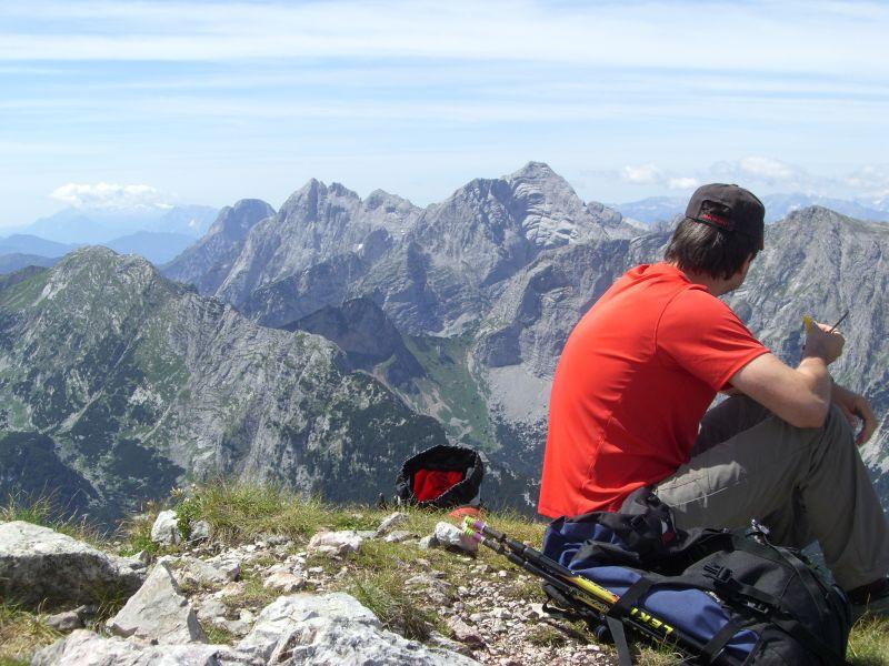 Gipfelpause mit Blick aufs Hochtor
