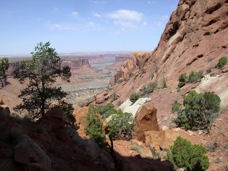 und schon geht es hinuter in den Canyon...