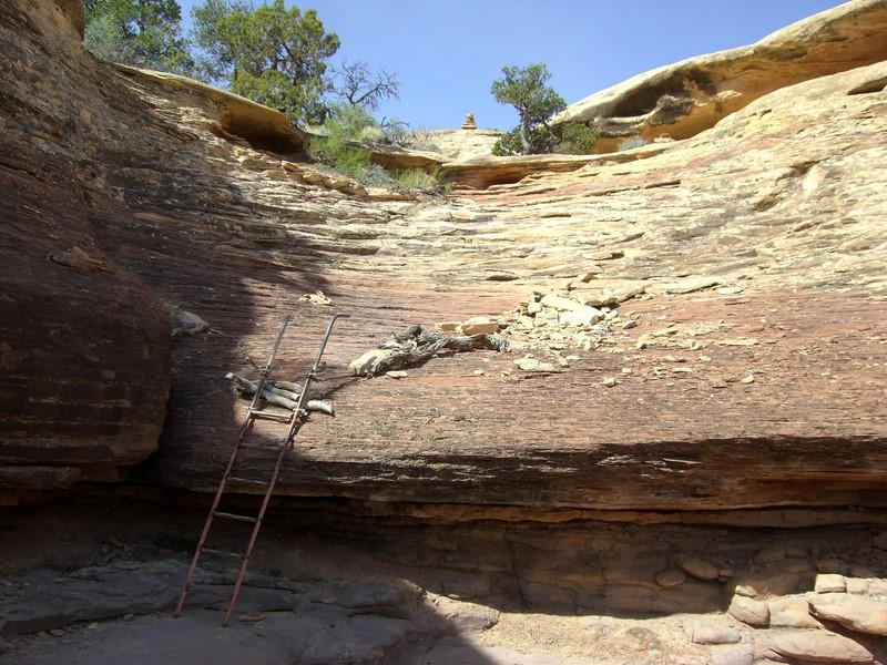 Kleine Klettersteigeinlage