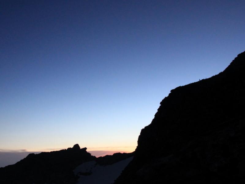 Das erste Morgenrot im Aufstieg