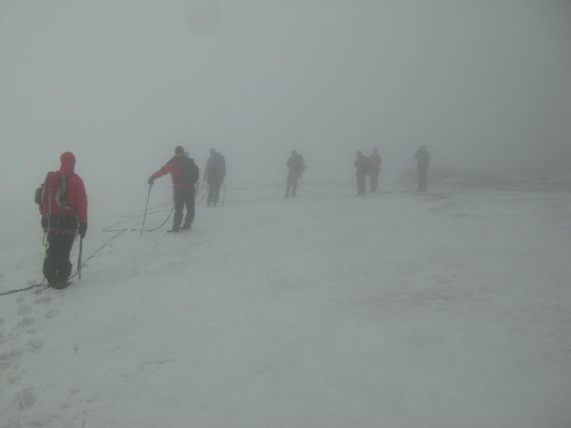 Abmarsch im Nebel