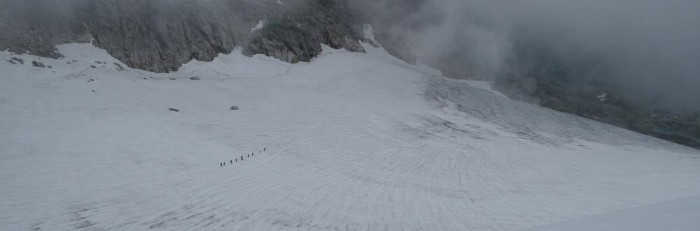 Tiefblick am Gletscher