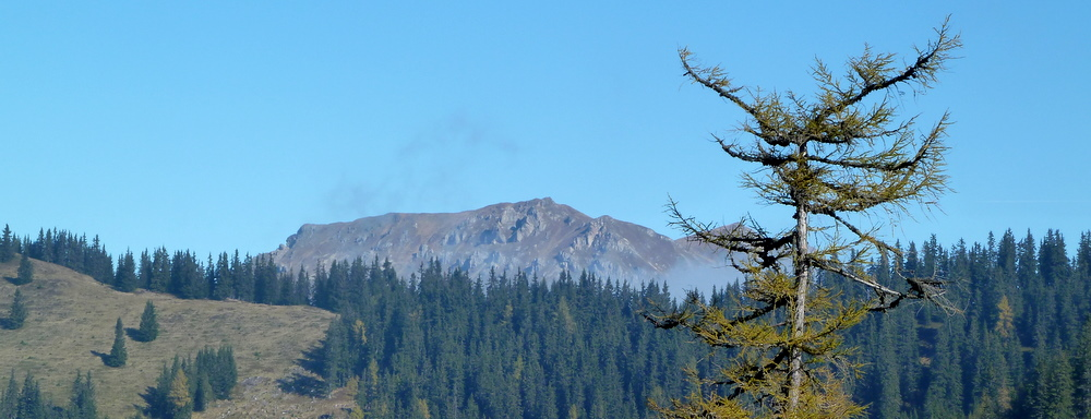 Erster Blickkontakt mit dem Gipfel am Walcherkogel
