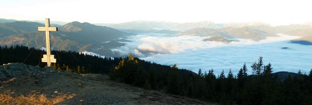 Nebelsuppe über Bruck/Mur und Leoben