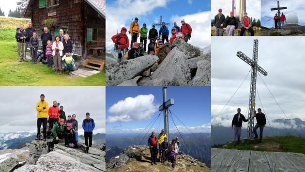 Viele Gipfel wurden im Rudel erklommen...