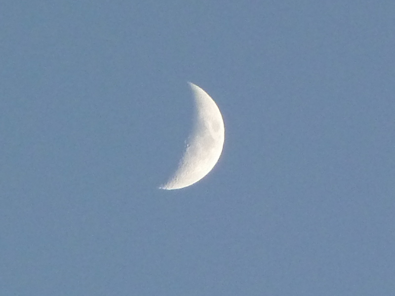Die Sonne geht, der Mond bleibt...