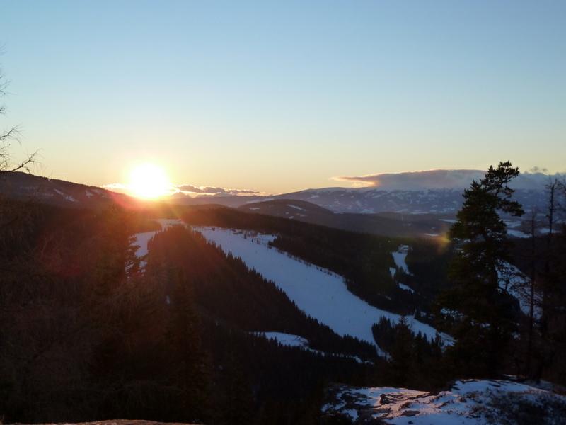 Sonnenuntergang über der Hebalm...