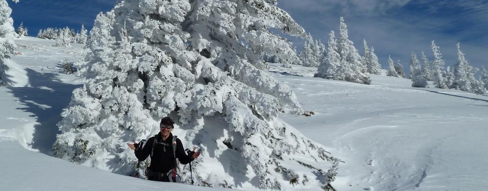 Herr rutschger präsentiert das Winterwunderland