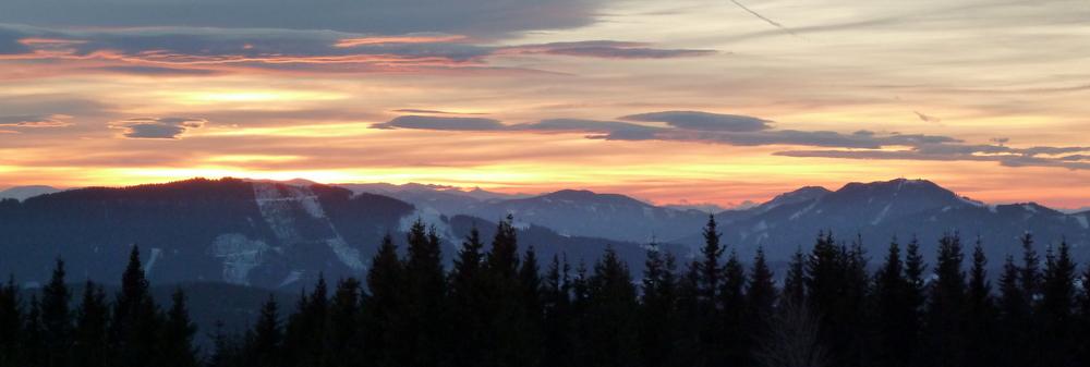 Sonnenuntergang vom Teufelstein