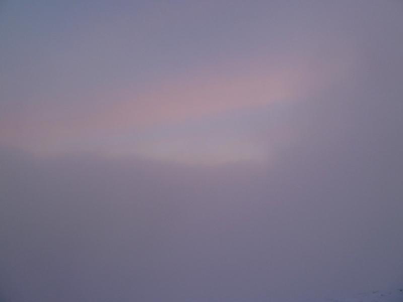 Doch das ist alles, was wir vom Sonnenaufgang zu sehen bekommen