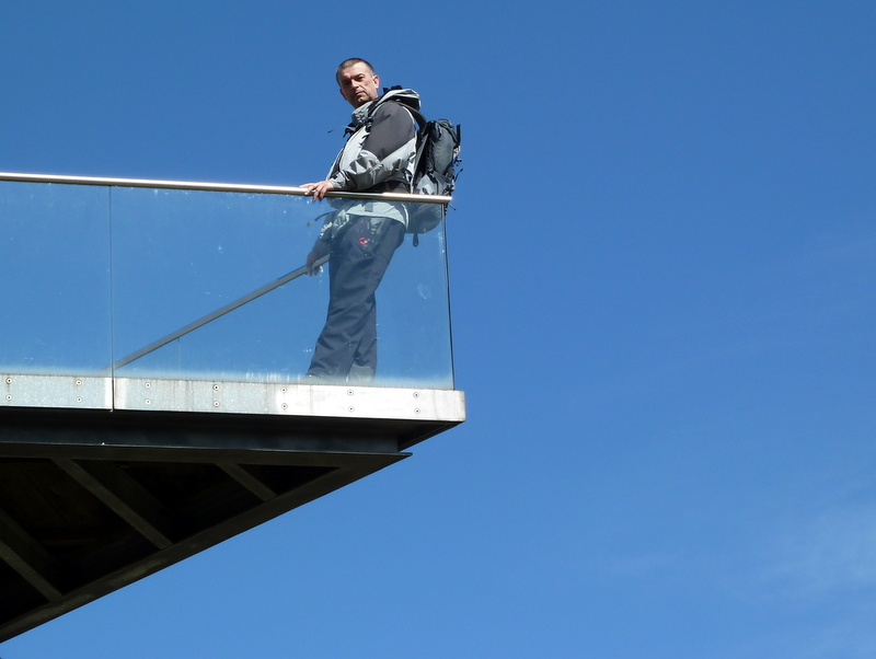 Am Skywalk von St. Anna