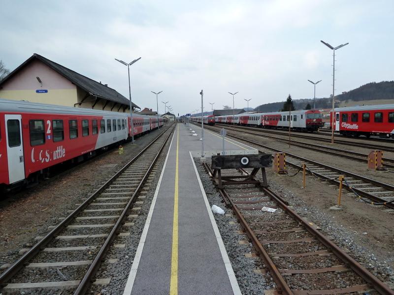 Der unerwartet große Bahnhof in Fehring