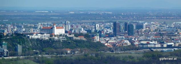 Aussicht nach Bratislava