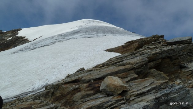 Natürlich reisst es erst nach unserem Gipfelsturm auf!