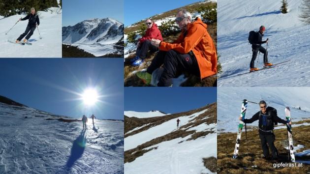 """Die erste """"richtige"""" Skitour: Auf den Hochschwung bei Prachtwetter und sommerlichen Temperaturen"""