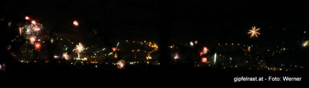 Neujahrsfeuerwerk von Köflach, Bärnbach und Voitsberg