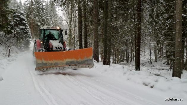 Bitte nicht! Wir sind froh über jeden Millimeter Schnee!