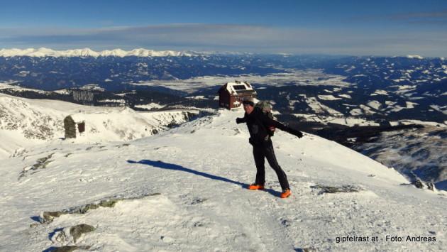 Am Gipfel ist's windig (und daher eisigkalt)