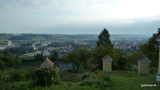 Aussicht vom Feldbacher Kalvarienberg