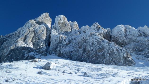 Suchbild: In der Griesmauer verstecken sich heute sogar zwei Kletterer