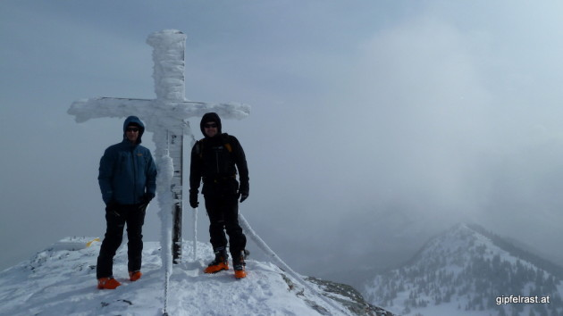 Thomas und Andreas am Gipfel