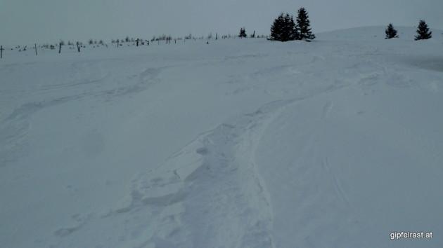 ...der Schnee tendiert aber in Richtung Bruchharsch :(