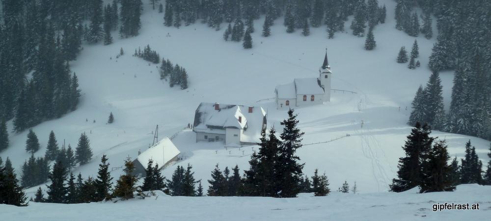 Skispaziergang auf die Gleinalm