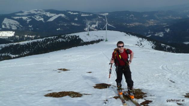 Stellenweise ginge es schon ohne Ski...