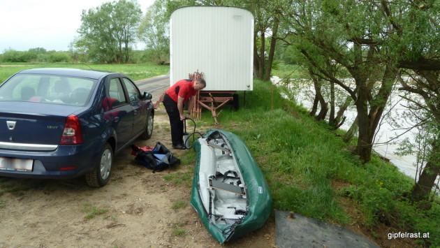 Heute hilft Werner beim Pumpen ;)