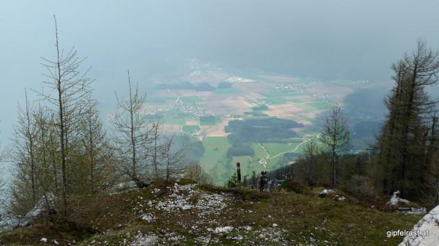 Bei Siebenhütten angekommen ist die Aussicht nur teilweise in Betrieb