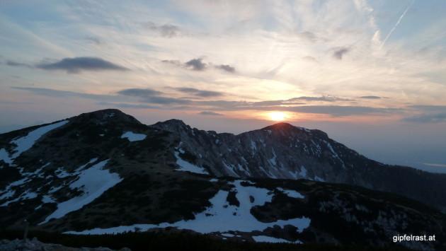 Sonnenuntergang über der Feistritzer Spitze