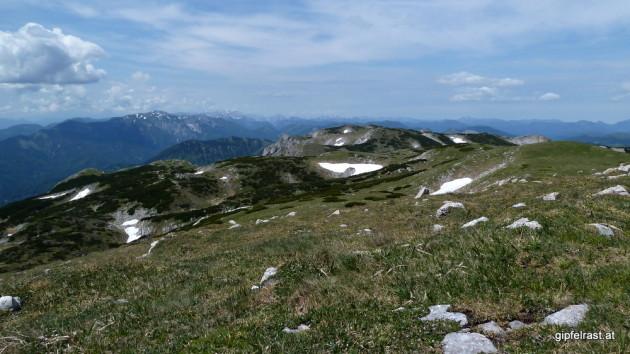 Aussicht übers Plateau in Richtung Westen