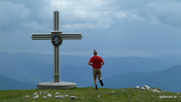 Am Gipfel der Schauerwand - zu langsam...