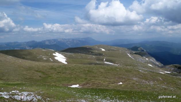 Blick über das Plateau der Hohen Veitsch