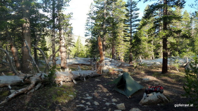 My campsite at McClure Meadow
