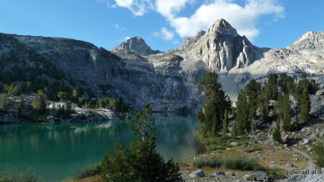 Rae Lakes in the morning