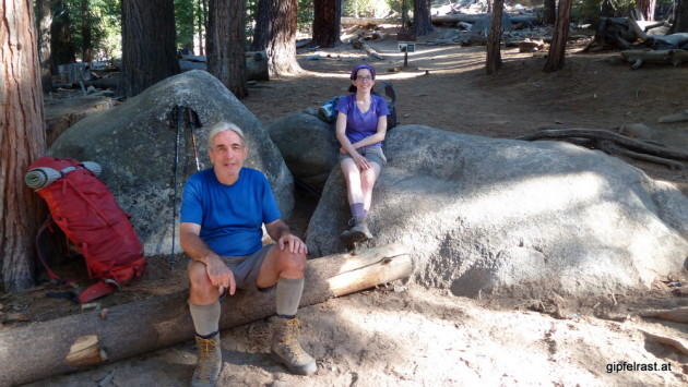 Nick and Shenan at Half Dome Junction