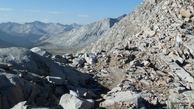 On top of Mather Pass (3688m)