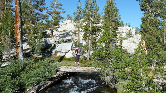 Bridge on the John Muir Trail