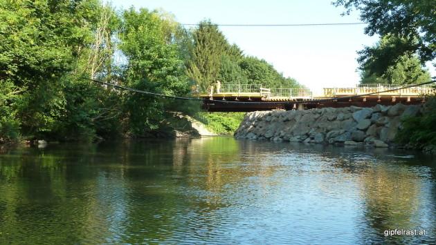 Engstelle wegen Bauarbeiten bei der Brücke in Heimschuh