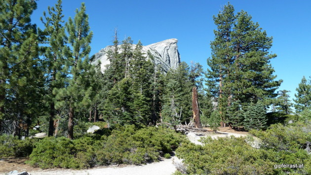 Half Dome summit comes into view