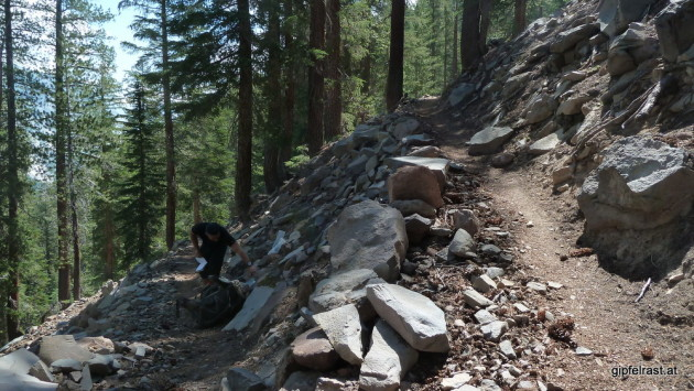 One of the countless switchbacks up Bear Ridge